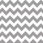 Gray And White Chevron Cot..