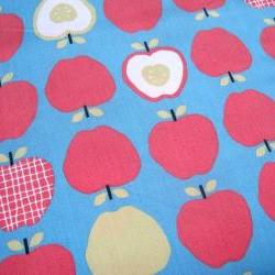 "Organic Fabric Red and Blue Apple - ""Mixed Apples"" Taali Collection by Monaluna One Yard"